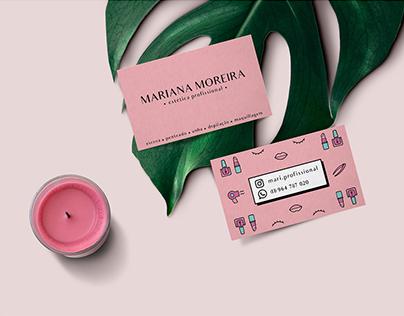 Mariana Moreira . Estética Profissional - Branding