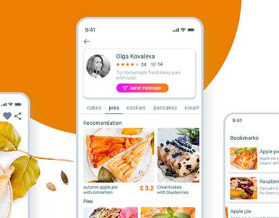 homemade pie app | UI / UX design