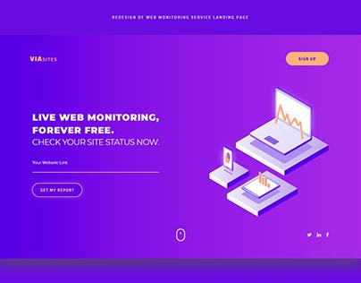 Web Monitoring Service Landing page