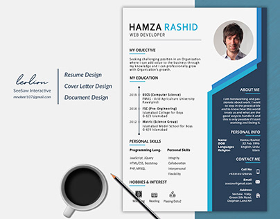 Resume Design | Blue patterns