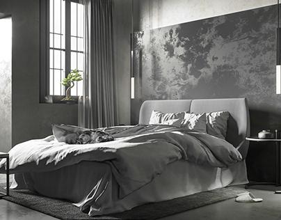 Studio flat grayscale
