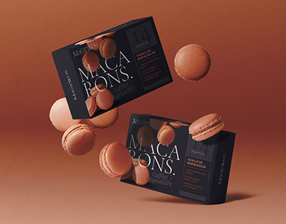 Macaron Package Mockup Scene