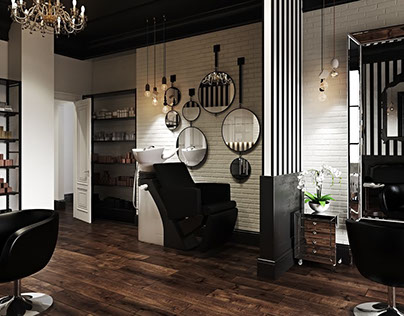 3D CAD Rendering For A Hair Salon: Elegance Can Be Bold