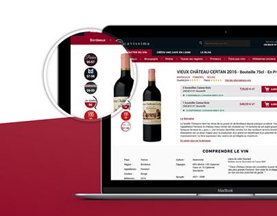 Wine notation badges design / cavissima.com