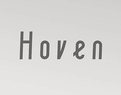 Hoven - A Free Font