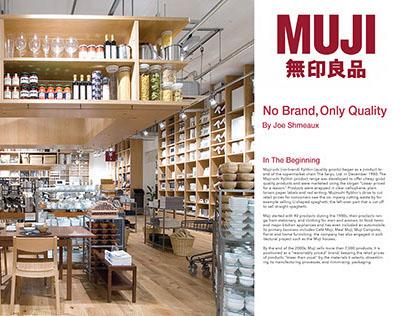 MUJI Magazine Layout