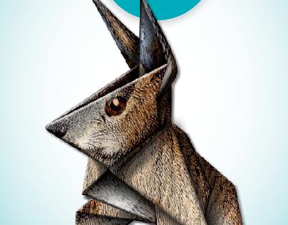 Origami book cover