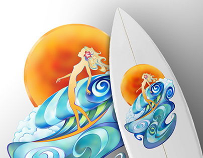 Vector Illustration: Surfboard Graphic