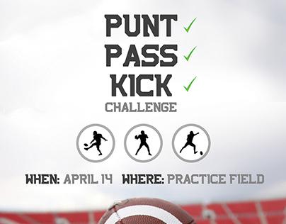 Punt Pass Kick Challenge Flyer