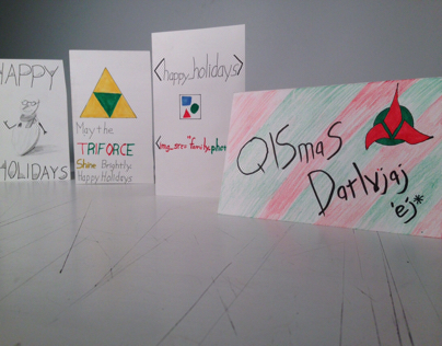 Christmas Nerdy Greeting Cards