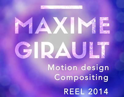 Demoreel 2014, Motion design