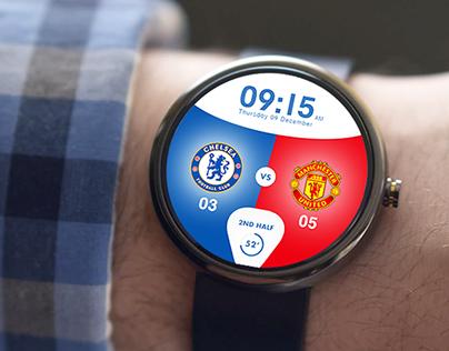 English Premier League Watchface - Android Wear