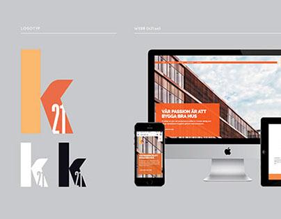 K21 - identity branding and logo design