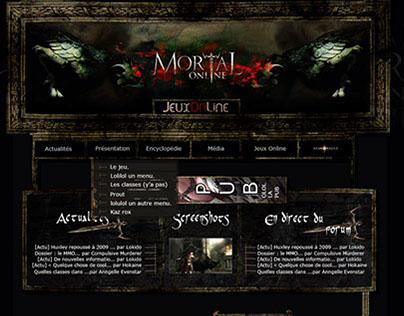 Maquette pour le fansite jeuxonline : Mortal Online