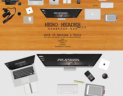HERO HEADER Creation Kit