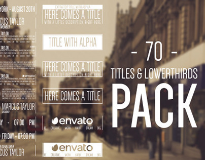 70 Hipster Titles & Lowerthirds