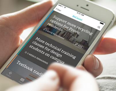 iOS Petition App Concept