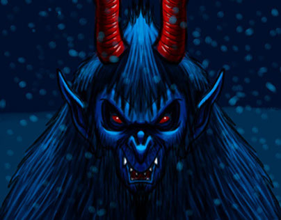 Krampus Christmas Demon Character Sketch 5
