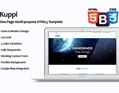 Kuppi - Multipurpose One Page HTML Template