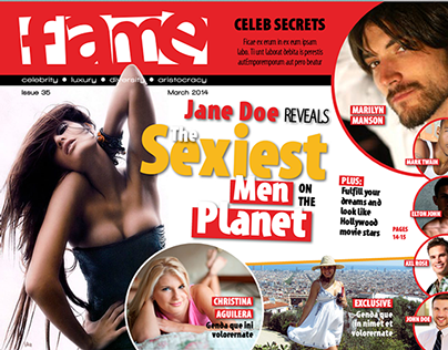 """Fame"" Celebrity magazine iPad magazine template"