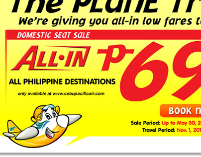 Email Marketing Ads of Cebu Pacific Air