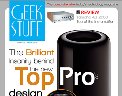 """Geek Stuff"" iPad magazine template"