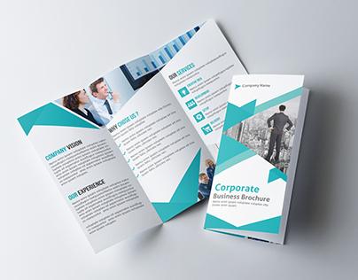 Clean Corporate Tri-fold Brochure