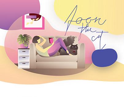 Graphic Illustration / Foon the cat