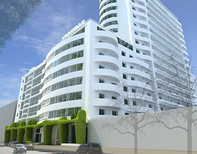 The project of multi-storey residential building