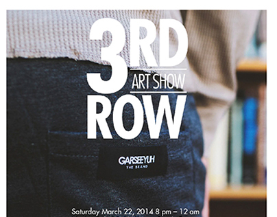 3RD ROW Art Show | Identity & Marketing Materials