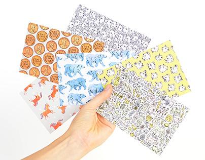 Pattern Party Postcards