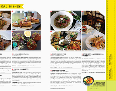 River City Magazine – Nov/Dec 2014 Dining Layout