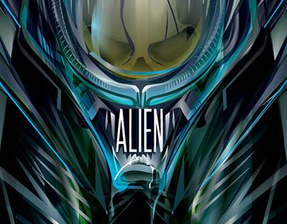ALIEN 35 -Vector-Poster Posse Tribute
