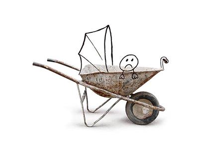 Baby wheelbarrow