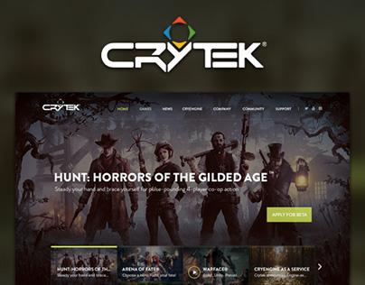 Crytek Homepage Redesign