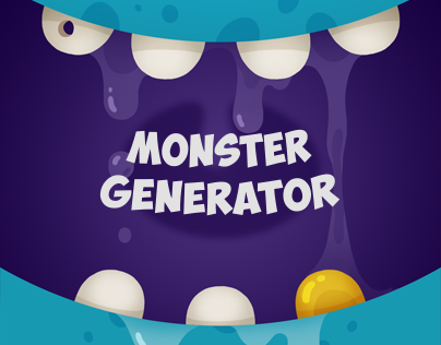 Game Character Design Apps : Monsters generator on behance