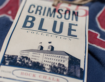 University of Kansas - Crimson & Blue Apparel Tags
