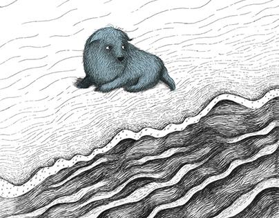 Peter The Blue - A children book Illustration