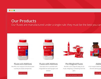 Scancia Website Design