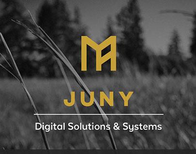 JUNY Logo Design & Homepage Mockup
