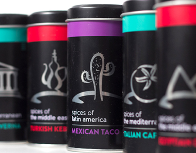 Packaging Design for Spice Tin Gift Set