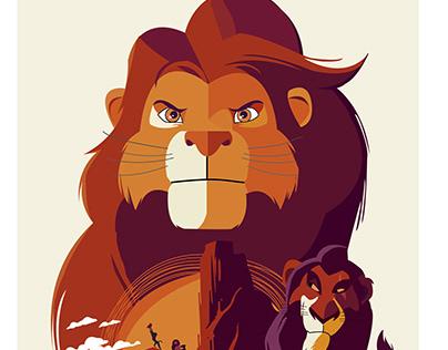 The Lion King || Ilustración Vectorial