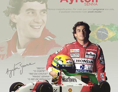 Flyer em homenagem ao Ayrton Senna