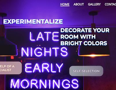 neon web-site