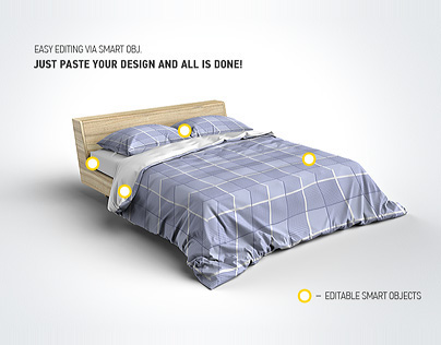 Bed Linens Mock-Up / Bedding Set Template