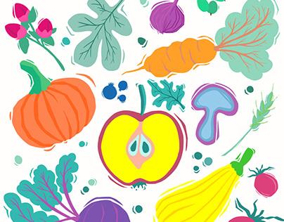 Market vegetables & fruit // Eigenprojekt STGuI