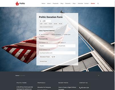 Donate Page - Politic WordPress Theme