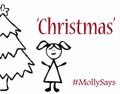 Molly and Dad at Christmas. #MollySays