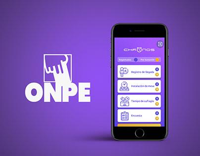 APP CHRONOS - ONPE 2020
