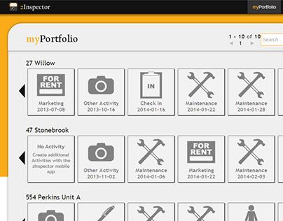 zInspector Web Portal UI